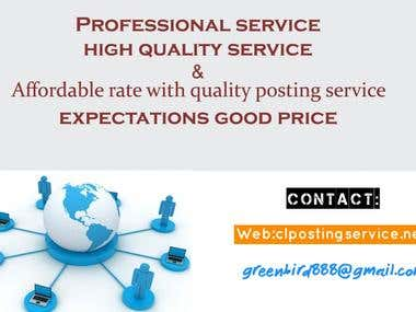 Affordable rate and quality posting service!