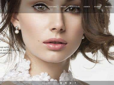 Convert Template from PSD to Wordpress Wedding Portfolio