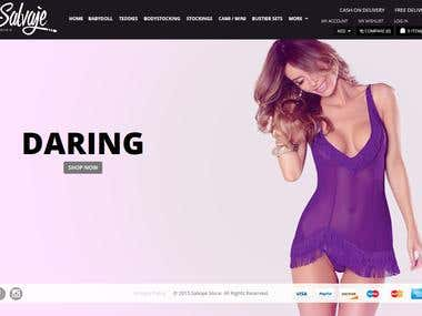 A bikini selling store based on magento