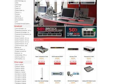 An ecommerce site dor selling transmitting instrument.