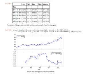 Extract google stock price data