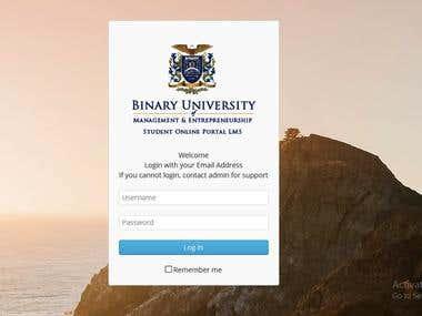 Binary University CMS