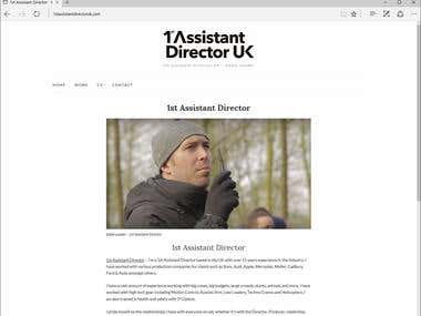1st assistant director UK