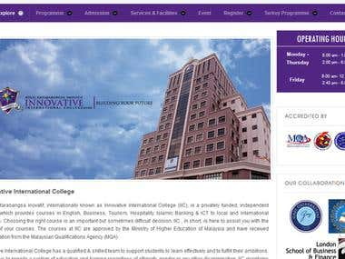 Innovative International College  website