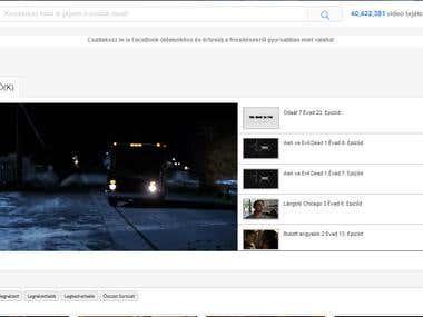 Responsive website design to video portal