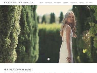 Wordpress responsive site for a bridal fashion designer