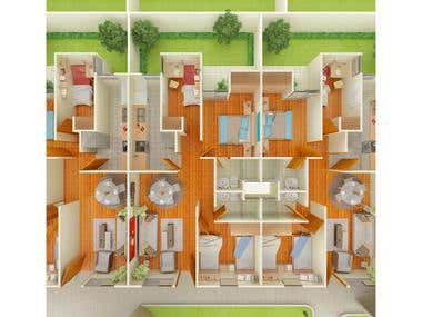 Floor Plans & Top View
