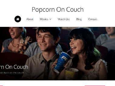 Popcorn On Couch: Movie website