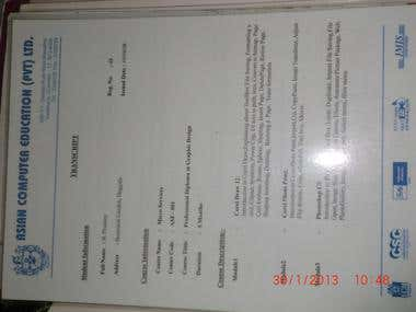 graphic designing  proof certificate