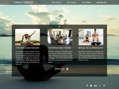 Forrest Energy - design & Wordpress high-end website.