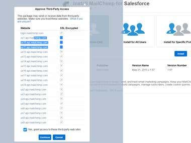 mailchimp to Salesforce integration via appExchange product