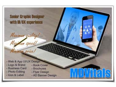 MDVitals App MockUp