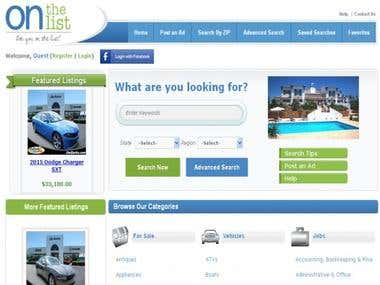 Classifieds Website with all great features ,