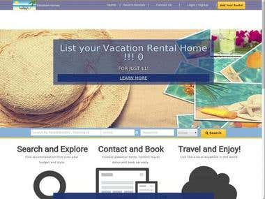Responsive vacation rental portal