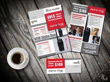 Double Sided Tri-Fold Brochure / Direct Mailer
