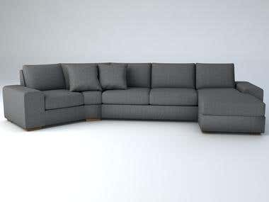 3D modelling of the sofas (furniture)