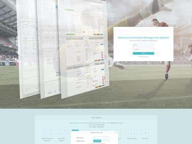 Football management web application