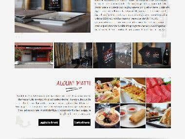 Create website for japanese and chinese restaurant