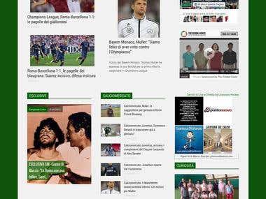 Create website for sport magazine