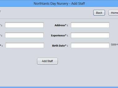 Nursery Management system