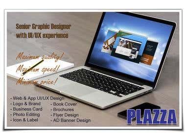 PLAZZA Website MockUp