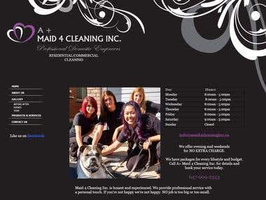 A+ Maid 4 Cleaning Inc Website design