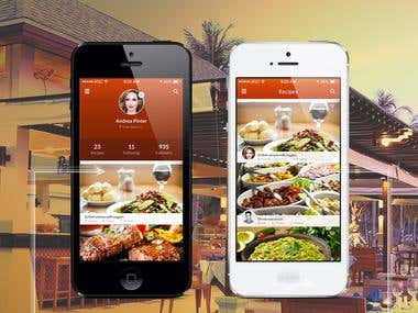 My Restaurant App Design.