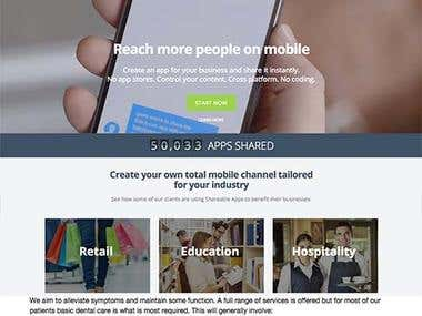 Minimal, mobile responsive and dynamic websites short intro