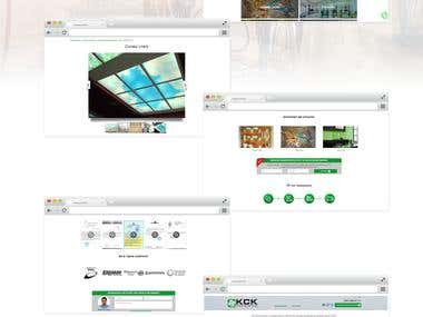 """Website for Trading house """"KSK"""""""
