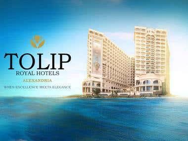ROYAL  HOTELS advertisement design 2