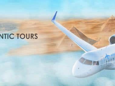ARLANTIC TOURS company  advertisement design