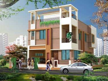 1.Luxury Residence Exterior & Interior view