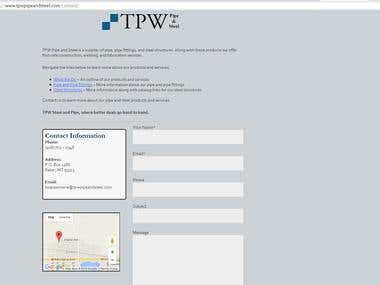 TPW Pipe and Steel Website