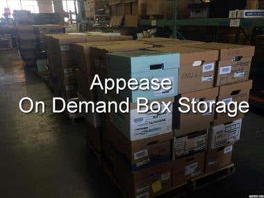 Appease On Demand Box Storage