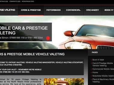 Pretige Car Valeting Site