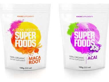 Superfood packaging design