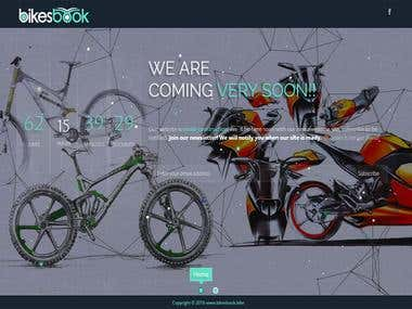 Bikesbook - Comming soon Page