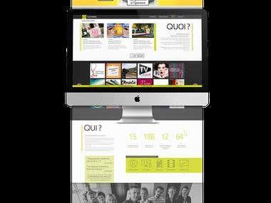 Le site web d'une agence