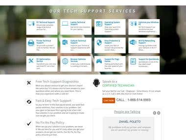 one page landing page