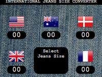 International Jeans Size Converter Widget