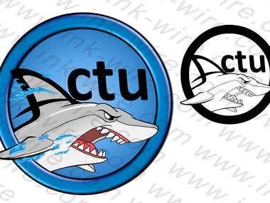 actu logo shark