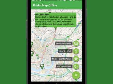 Bristol Offline Map (using Open Street Map Android)