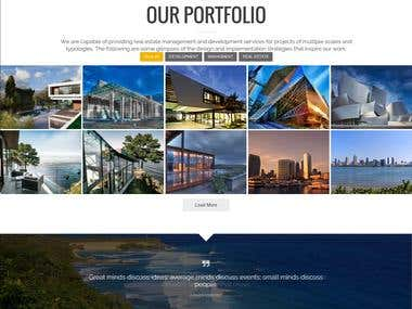 Wordpress Onepage website