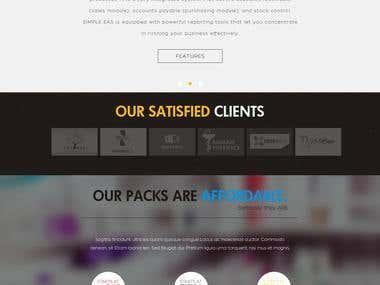 Simple Softech Website Design