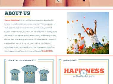 Choose Happiness Foundation (promo video & website)
