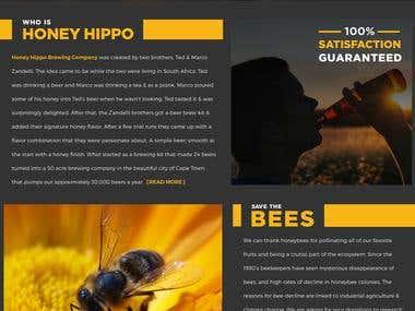 Honey Hippo Brewing Co. (Branding & Web design)