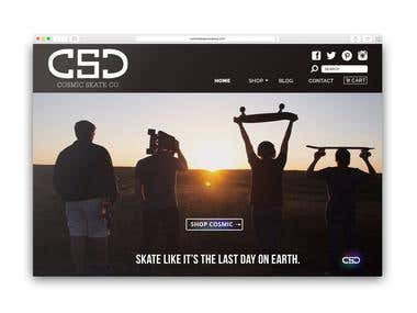 Cosmic Skate Company (web design)