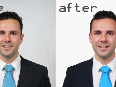 background change and retouch