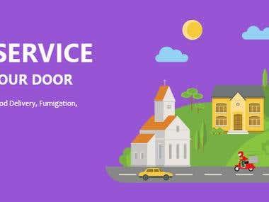 Home Services Banner Design