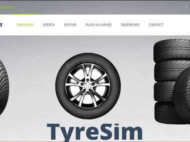 Online Shopping Tyre Website In Wordpress.